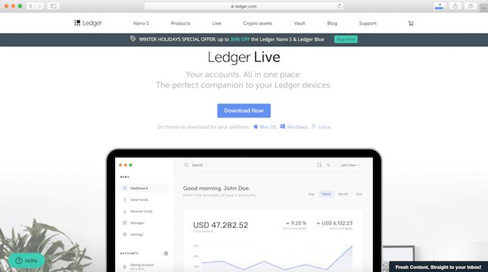 Ledger Nano S Hardware Wallet Kryptowährungen Bitcoin Ethereum Ripple Litecoin Anleitung 1