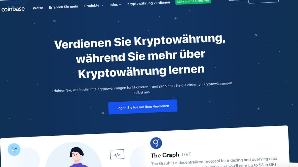 Coinbase Earn Invites Kryptowährungen