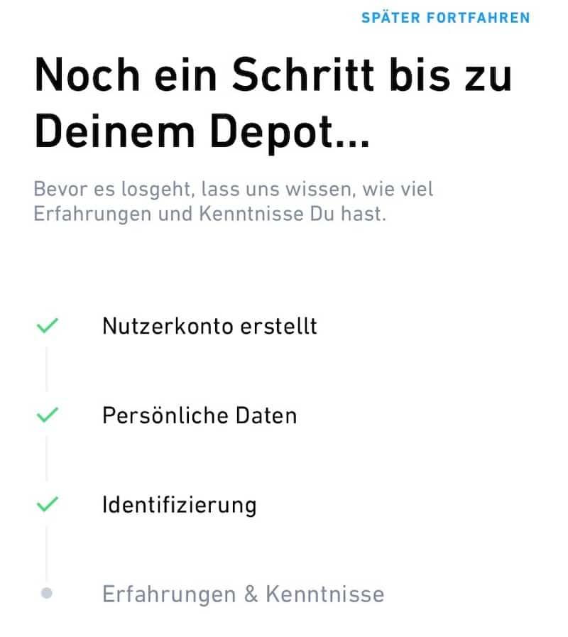 Einrichtung Registrierung