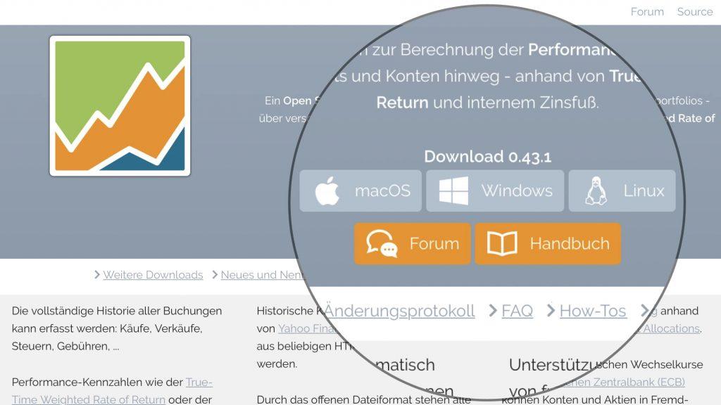 Portfolio Performance Download