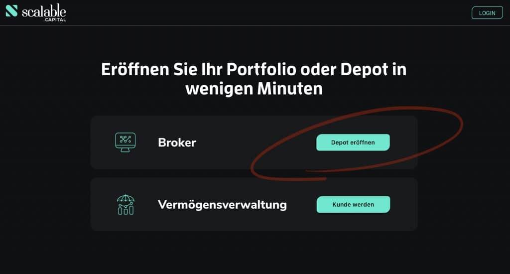 PRIMEBROKER FREEBROKER Depot eröffnen Scalable Capital