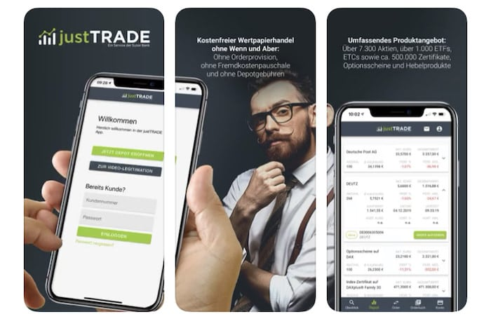 JustTrade Depot App iOS Android