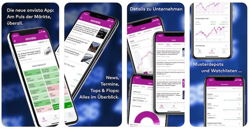 Onvista Depot App iOS Android