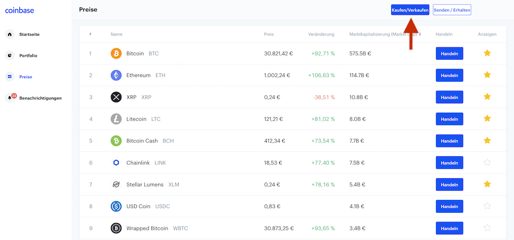 Kryptowährungen Sparplan Bitcoin-Sparplan Coinbase Litecoin Ethereum Ripple