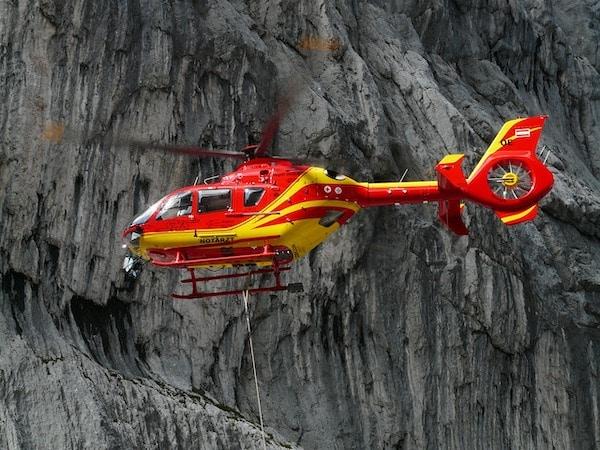 Rücktransport Hubschrauber
