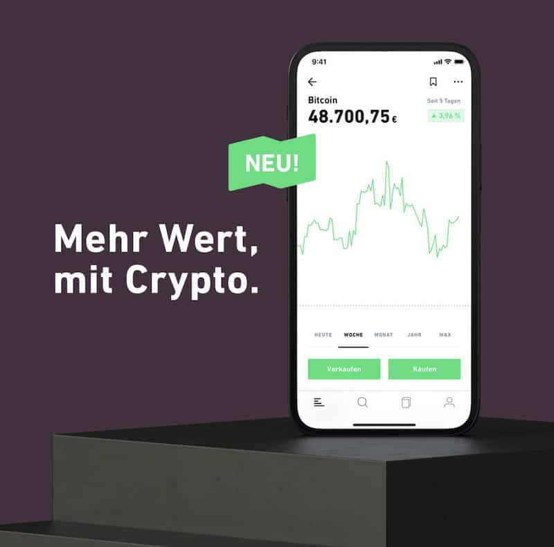 Trade Republic Bitcoin Ethereum Litecoin Bitcoin Cash deutsche Kryptobörse