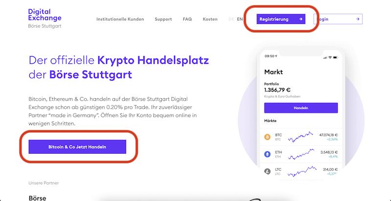 BSDEX Börse Stuttgart Digital Exchange Kontoeröffnung Bitcoin