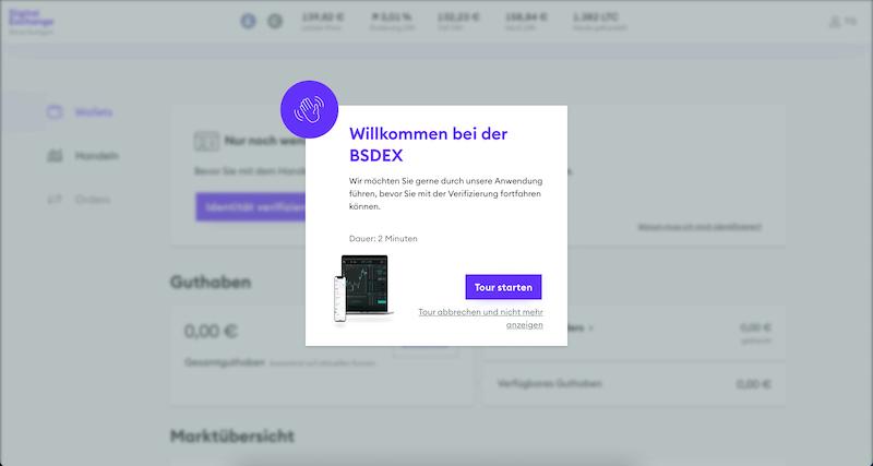 BSDEX Login Börse Stuttgart Digital Exchange Konto eröffnen Bitcoin