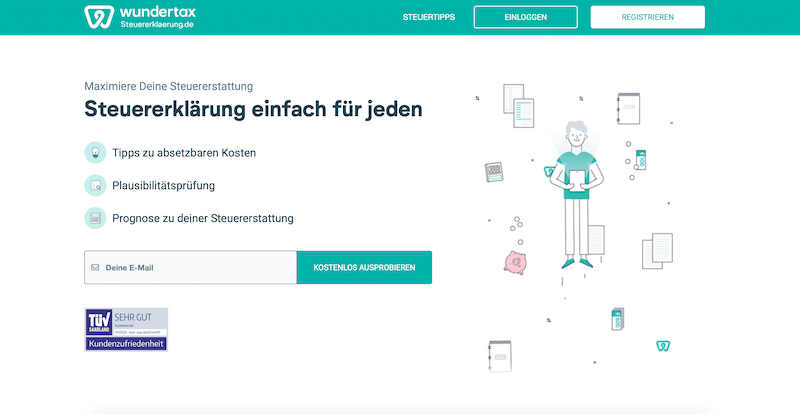 Wundertax-Anleitung Kontoeröffnung Online-Steuertool Erklärung How To