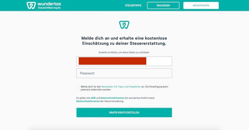 Wundertax-Anleitung Online-Steuertool How To Erklärung