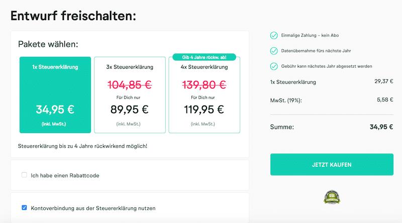 7 Wundertax-Kontoeröffnung Online-Steuertool Anleitung