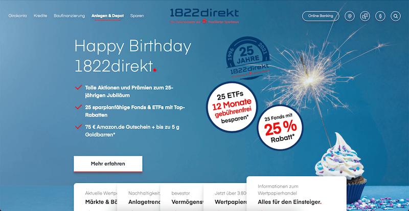1822direkt Depot Aktien ETFs Fonds Zertifikate
